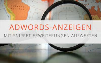 Snippet-Erweiterungen in AdWords Anzeigen
