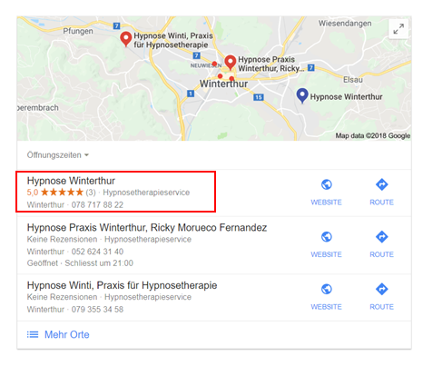 Google Bewertungen & Ranking