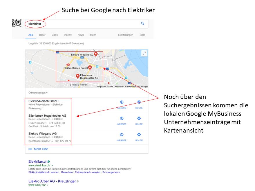 Google Eintrag auf Maps