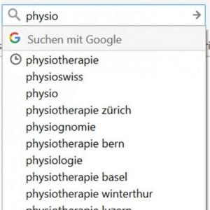 Google Suche Vorschläge