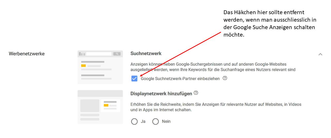 AdWords Suchnetzwerk