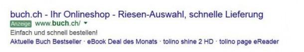 Google Suche Beispiel Anzeige