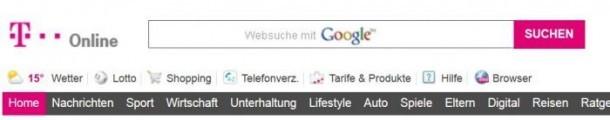Google Suchnetzwerk Partner t-Online
