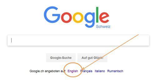 Google englisch Sprache