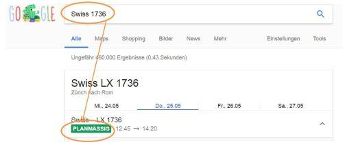 Google Flugstatus