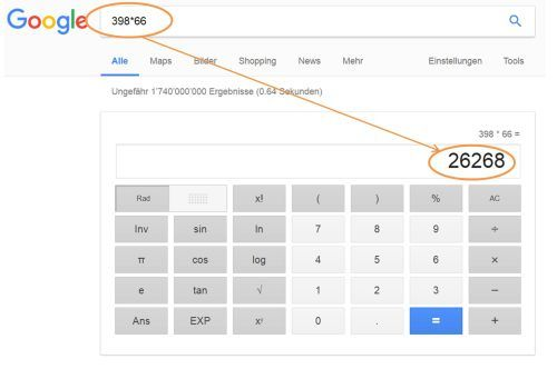 Google Rechner