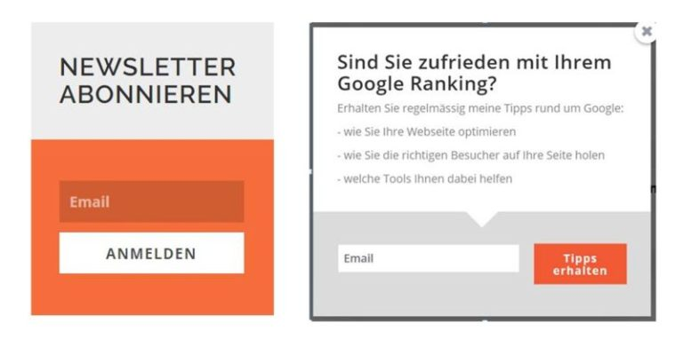 Newsletter Opt-ins