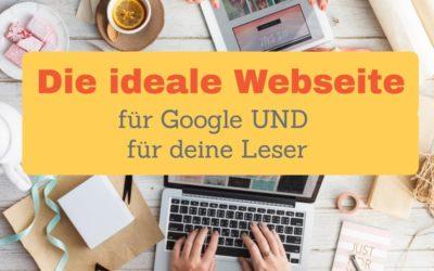 Der ideale Aufbau einer Webseite