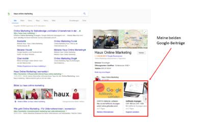 Mit Google-Beiträgen zeigst du dein Angebot direkt in der Google Suche