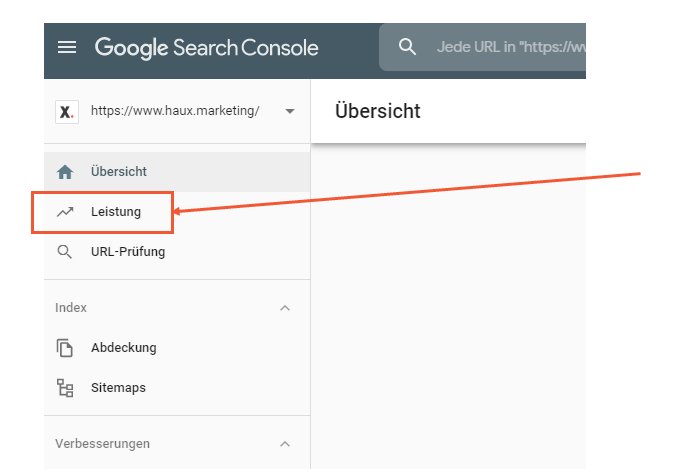 Keywords Search Console Navigation