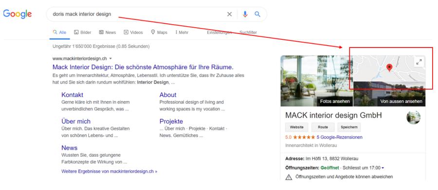 Google Maps Suche Suchintention